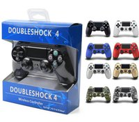 Wholesale sony playstation ps4 online - Wireless DoubleShock PS4 Game Controllers Joysticks for Double Shock PS Game playstation USB Controller for sony Play Station consoles