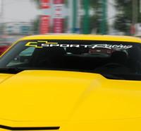 etiqueta da velocidade do pára-brisa venda por atacado-2X Relfective Decalque de Vinil Pára Janela Adesivos para Chevrolet Cruze Aveo Orlando Captiva Lacetti trax Corrida Esportiva Gráfico