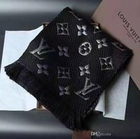 ingrosso sciarpa di stampa del leopardo blu-Sciarpa di cachemire moda Donna Designer di lusso di marca Sciarpa Lettera donne sciarpe spesse e avvolge Dimensioni 180x32cm regalo di Natale