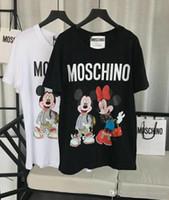 rolamento livre venda por atacado-19ss mulheres Designer de camiseta Primavera Verão urso de pelúcia impressão Casual Solto Tripulação Carta T-shirt Streetwear