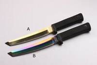 ingrosso coltelli fissi a lama oem-Nuovo coltello dritto per sopravvivenza esterna OEM VG1 Tanto Blade Coltelli a lama fissa Manico lungo Kraton con Kydex