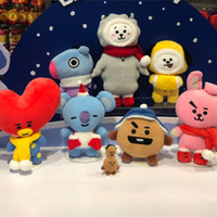 Wholesale Bt21 Toys Christmas Plush Stuffed Dolls Bts Plush Toy Kpop Soft Doll New Arrive Gift for Kids