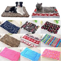 Wholesale pet plush dog houses resale online - Dog Bed Plush Mat Warm Winter Puppy Cat House Kennel Small Medium Large Dogs Beds Christmas Sleeping Blanket pet Mat WX9