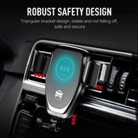 araba tutacağı şarj cihazı toptan satış-Araç Montaj 10 W Qi Kablosuz Şarj iphone XS Max X XR 8 Hızlı Şarj Hızlı kablosuz Şarj Pedi Araba Tutucu Standı