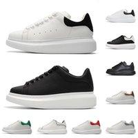 kadınlar için siyah süet ayakkabıları toptan satış-Alexander McQueen rahat ayakkabılar erkekler kadınlar moda platformu sneakers üçlü siyah beyaz 3 M yansıtıcı deri süet rahat düz boyutu 36-44