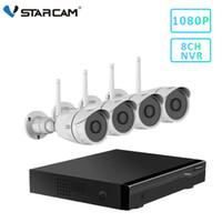 grabadora ip 8ch al por mayor-montón de cámaras de vigilancia VStarcam 8 canales NVR 4 Sistema de Vigilancia C17S 1080P Kits NVR cámara resistente al agua IP CCTV Kits Video Recorder Home ...