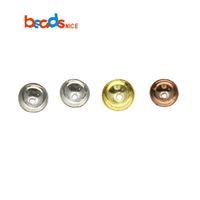 bead end caps achat en gros de-En gros ID38300 925 Sterling Silver Bead End Caps Bracelet DIY Résultats de Bijoux Fit Perles Bijoux Accessoires Bead Caps