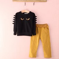 Wholesale kids clothing pants jumpers resale online - 2019 Newest Hot selling Cool Baby Boy Kid Long Sleeve Sweat Cartoon Monster Jumper Top T shirt Pants Outfit Set Clothes T