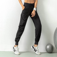 Wholesale fitness yoga pants black for sale - Group buy Women Yoga Studio Pants Ladies Quickly Dry Drawstring Running Sports Trousers Loose Dance Studio Jogger Girls Yoga Pants Gym Fitness
