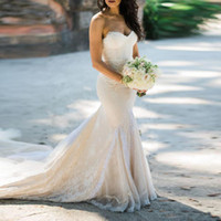 Wholesale plus size tulle wedding dress for sale - Group buy Retro Full Lace Wedding Dresses Mermaid Sweetheart Elegant Long Bridal Gowns Layer Trains Tulle Custom Made
