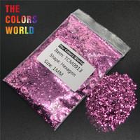 gel metálico para uñas al por mayor-TCM0913 Color Rojo Púrpura Lustre Metálico Hexágono Forma Nail Glitter Nail Art Decoración Maquillaje Gel Cuerpo Glitter Trabajo hecho a mano DIY