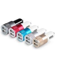 universal usb charger laptop venda por atacado-1 pc Universal DC 3.1A Portátil Mini 2-Port USB Carregador de Carro Para Celular laptop