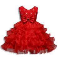 ingrosso abbigliamento di compleanno-9 colori Flower Girl Dress Formal 3-8 anni Floreale Neonate Abiti Abiti da festa per matrimoni Abbigliamento per bambini