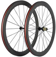 Wholesale 12 inch bike wheels resale online - light weight T1000 UD K C mm mm mm mm mm depth racing carbon road bike wheels bicycle wheelset taiwan XDB DPD ship