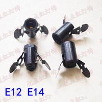 titular e12 al por mayor-E12 Soporte de lámpara con pieza de resorte E14 Base de lámpara con pieza de resorte E12 E14 Tapas de rosca pequeña Accesorios para lámpara de sal de cristal