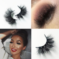 Wholesale free fake lashes resale online - 22 mm Mink Lashes Real Mink False Lashes D Crisscross Natural Fake Lashes Makeup D Mink Eyelash Extensions Fedex DHL Free Ship