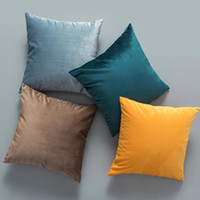 Wholesale sofa sets for resale online - Pillow Case Velvet Cushion Cover for Living Room Sofa Cushion Set Solid Color Decorative Pillowcase Cushion Cover Pillow Cover