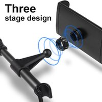 автомобильный держатель телефона оптовых-Universal  Rotation Car Holder Adjustable Car Seat Back Head Rest Mount Smart Phone Holder Bracket Stand