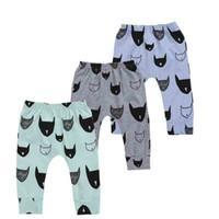 bebek bat pantolon toptan satış-Erkek bebek Harlan Pantolon Çocuklar Giysi Tasarımcısı Erkek Karikatür Hayvan Baskı Eğlence Yarasa Orta Bel Pantolon 49