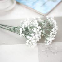 flores artificiales realistas al por mayor-Artificial realista estrellado flor falsa floral boda ramo novia hortensia jardín sala decoración