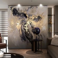 Wholesale background wallpaper landscape resale online - Drop Shipping Custom D Wall Mural Wallpaper Abstract Golden Landscape Art Wall Painting Background Photo Paper Decor