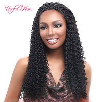 Wholesale curly braiding hair weave resale online - Freetress Crochet Hair Spring Twist Synthetic Crochet Braids Freetress Hair with Water Weave Curly In Pre Twist inch Free Tress Hair