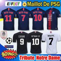 Wholesale gold tribute for sale - 2019 PSG Notre Dame Soccer Jersey Third Maillot MBAPPE Ligue champions as club Paris tribute maillot de foot Football Shirt