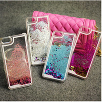 Wholesale iphone 4s glitter phone case online – custom New Quicksand Floating Glitter Star Running Hard Phone Case Cover For iphone plus s s Samsung galaxy S6 S5 note