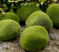 ingrosso pietre decorative-New Green Artificial Moss Stones 3 formati a scelta Erba tappeto erboso Bryophytes Home Garden Decorazione bonsai per Garden Path