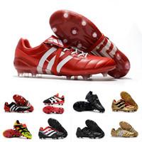 ag futbol ayakkabıları erkekler toptan satış-Erkek Hızlandırıcı Elektrik Predator Futbol Ayakkabı FG DB AG Erkekler Cleats predator Futbol Çizmeler Boyutu 39-46