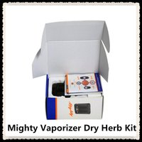 Wholesale personal herb vaporizer resale online - Mighty Vaporizer Dry Herb Kit Handheld Personal with aluminium nail Pocket Mighty Mod With Temperatuer adjustable vaporizer Box Mod