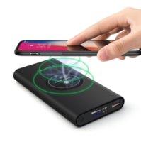 banco de energia do carregador qi venda por atacado-Qi sem fio do carregador Power Bank USB bateria externa carregador portátil
