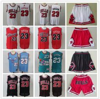 maillots de basket or noir achat en gros de-Hommes Chicago