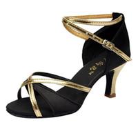 683b558e74 Sapatos Mulheres Salão de baile Dança Latina Salsa Preta Salto Alto Samba  Tango Kizomba Dança Sola Macia