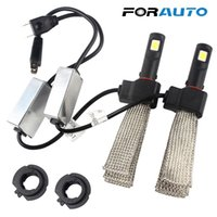 Wholesale conversion car for sale - Group buy FORAUTO Conversion Kit Car Styling LED Headlight Aluminum alloy belt Heat Dissipation LM W each bulb K Light Source H4