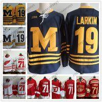 7b9998522 Wholesale michigan wolverines hockey jersey for sale - NCAA Michigan  Wolverines Dylan Larkin College Hockey Jersey