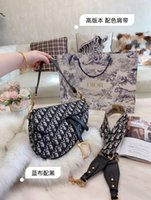 Wholesale cell phone body strap for sale – best Brand new fashionable lady saddle bag unique fabric with wide shoulder strap cross body bag single shoulder bag