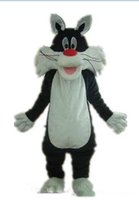 Wholesale cat adult mascots for sale – halloween 2019 Factory Outlets hot Ventilationa black cat mascot suit mascot costume for adult to wear