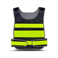 Wholesale reflective motorcycle vest resale online - SHUJIN High Visibility Reflective Vest Road Working Clothes Motorcycle Cycling Protective Tank Tops Outdoor Safety Clothing