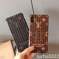 чемоданы высокого качества оптовых-Роскошный дизайнер чехол для телефона чемодан для iphone XS MAX X XR 6 6 s 7 8 плюс высокое качество сотовый телефон вонючий бесплатная доставка