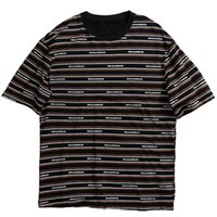 tee-shirt à manches longues à rayures noires achat en gros de-Été 2019 Streetwear Tshirt Hip Hop Mens T-shirts À Rayures Imprimé Harajuku T-Shirt À Manches Courtes De Mode Noir Tops Tees Coton