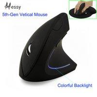 ingrosso la guarigione della luce-Immido Wireless Mouse ergonomico ottico 2.4G 800/1200 / 1600DPI Colorful Mouse Luce polso Healing verticale con Mouse Pad Kit PC