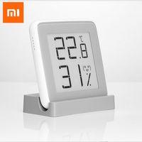 термометр высокой температуры оптовых-Xiaomi MiaoMiaoCe E-Link INK Screen Digital Moisture Meter High-Precision Thermometer Temperature Humidity Sensor LCD H15 #
