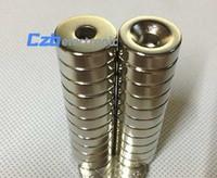 ímã afunilado imas venda por atacado-10pcs 10 * 5 Strong Magnet Anel 10 mm x de 5mm com Escareado Buraco: 3mm Rare Earth Neodymium Magnet 10 * 5-3mm frete grátis