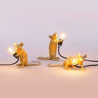 bureau ac achat en gros de-Retro Design Or blanc Rat Table de chevet Lampe pour Chambre Salon Bureau personnel Bureau café Intérieur de maison Lampe Art Décor