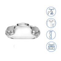 Wholesale brooches sale china for sale - Group buy Hot Sale Magnetic Stainless Steel Holder Eyeglass Holder ID Badge Holder Earphone Key Safety Brooch Accessories