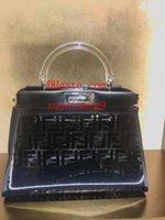 yan cüzdanlar toptan satış-Marka çanta çift taraflı şeffaf çanta Kristal kolu ile Hakiki Deri crossbody çanta messenger çanta çanta çantalar kadın AB-13