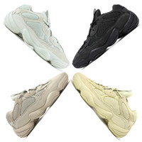 Wholesale shoe for sale - New Salt Kanye West Running Shoes With Original Box Designer Men Shoes Super Moon Yellow Blush Desert Rat Sport Sneakers