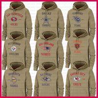 cowboys jacket venda por atacado-Pittsburgh Hoodies Minnesota Steeler Viking Chicago Jackets San Francisco Urso 49er Chief Cowboy RavensJersey Titan Salute to Serviço
