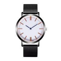 старинные серебряные браслеты смотреть оптовых- New Quartz Watch Bracelet Stainless Steel Luminous Watchband Silver Glow Dress Vintage Wristwatch New Fashion 2019